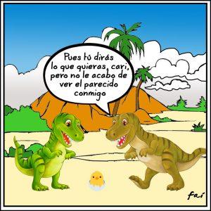 Tiranosaurios y pollitos